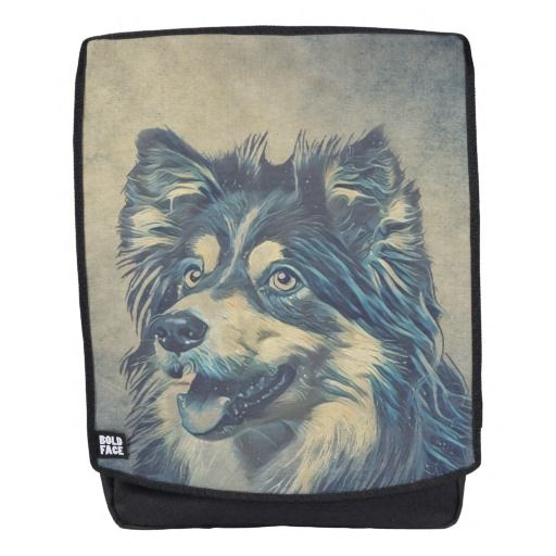 Shetland Sheepdog Painting Backpack