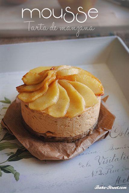 Mousse de tarta de manzana