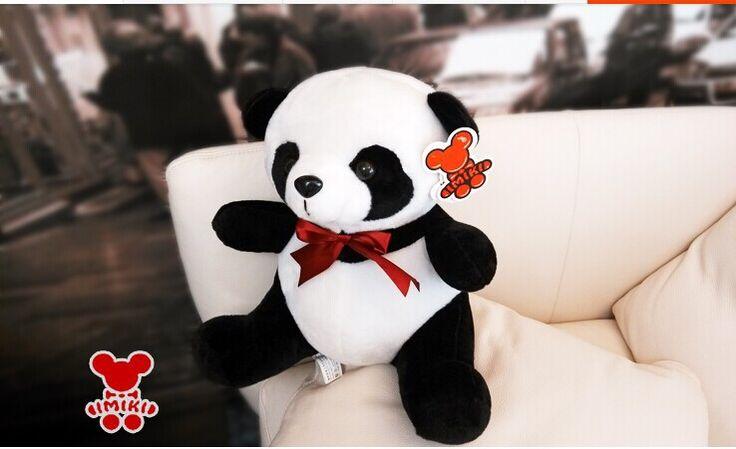 Около 35 см panda плюшевые игрушки прекрасный панда кукла высокое качество подарок на день рождения w6843