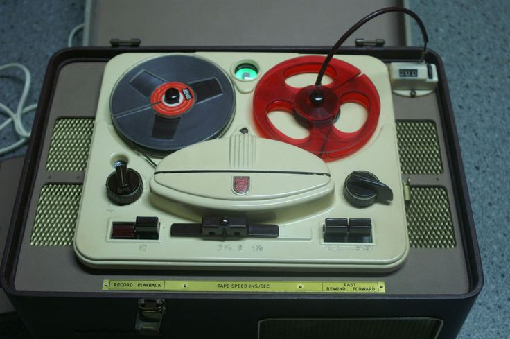 1955 Vintage AG8106 Philips reel to reel tape player recorder & still working!
