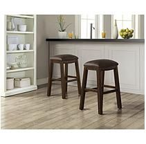 Asher Saddle Bar Stool - Set of 2