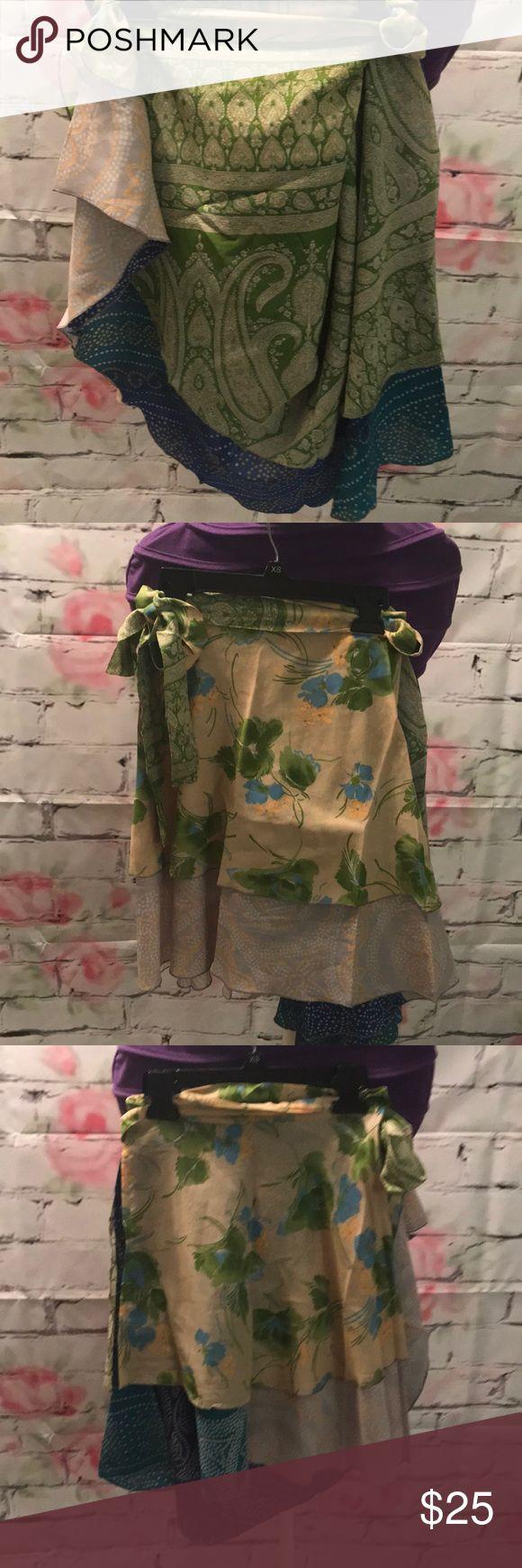 Urban Nomad NWOT silk wrap skirt Urban Nomad NWOT silk wrap skirt. You can wear in multiple different ways! Size: one size Urban Nomad Skirts