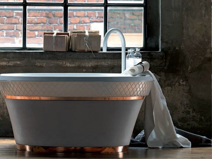 FREESTANDING CERAMILUX® BATHTUB GEORGE COLLECTION BY FALPER | DESIGN MICHAEL SCHMIDT, FALPER DESIGN