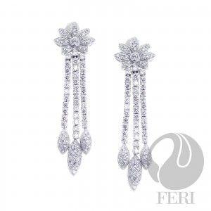 FERI 950 Siledium Silver Dangle Earrings  I'll catch me a shooting star