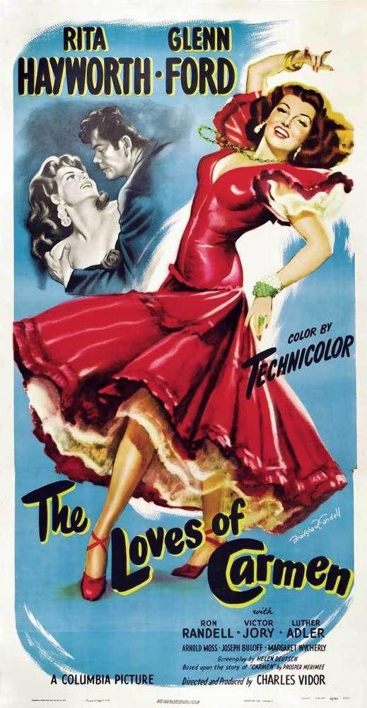 THE LOVES OF CARMEN Movie POSTER 20x40 Rita Hayworth Glenn Ford Ron Randell