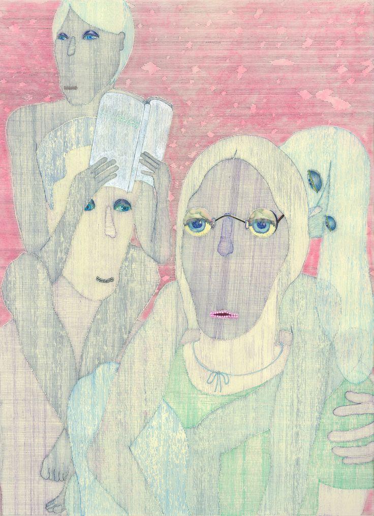 A peace by Ari Usui. 2009, ballpoint pens.