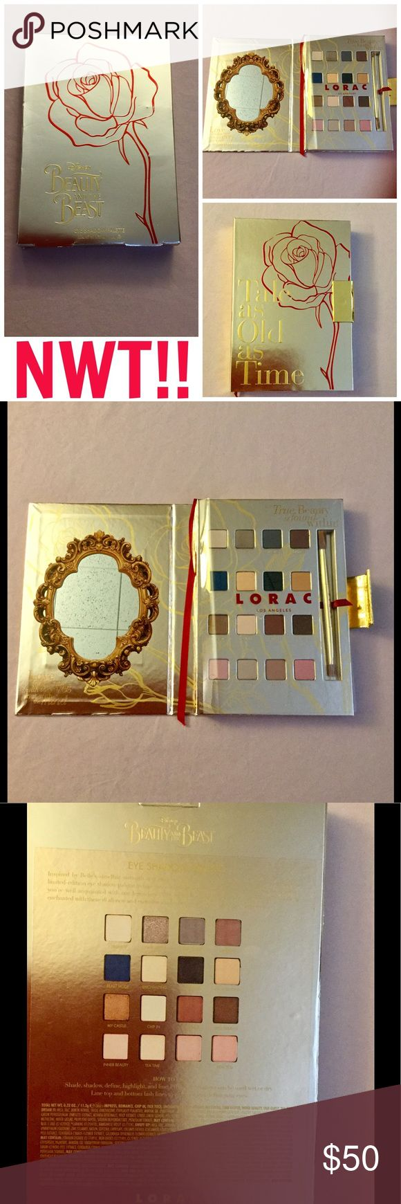 NWT! LORAC BEAUTY & THE BEAST EYE SHADOW PALLET This is a NWT in the box only opened to take the pics LORAC Limited Edition Beauty & the Beast eyeshadow pallet w/a double ended brush-see pic #5. 16 all new & exclusive shades from their best in class Pro formulas. LORAC is a 💯% cruelty free company, which is important to me! Rich pigments & superior manufacturing ensures the color integrity of your makeup stays true & on for 3-4X's as long as others. LORAC offers Red Carpet makeup for the…