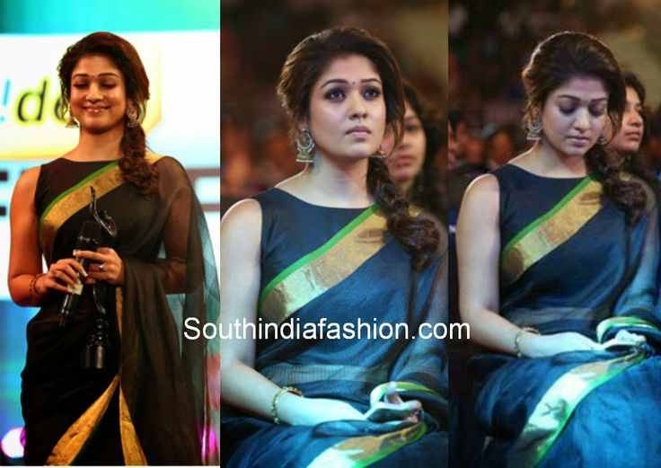 Nayanthara at South Filmfare Awards 2014 ~ Celebrity Sarees, Designer Sarees, Bridal Sarees, Latest Blouse Designs 2014