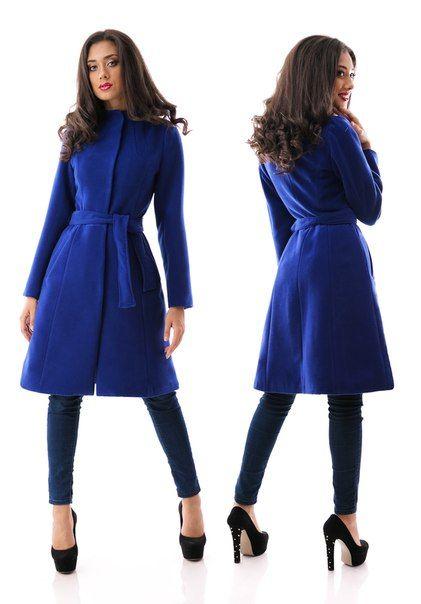 Пальто кашемир Dana синее