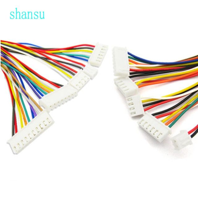 Ph 2 0 Wire Cable Connector Diy Ph2 0 Jst 2 3 4 5 6 7 8 9 10 12 13 14pin Electronic Line Single Connect Terminal Plug 26awg 30cm Review Plugs Connectors Cable