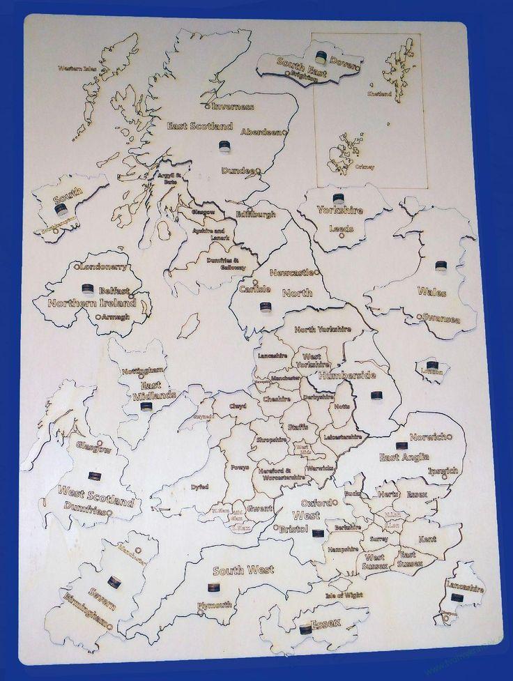 Puzzle mapa Velké Británie