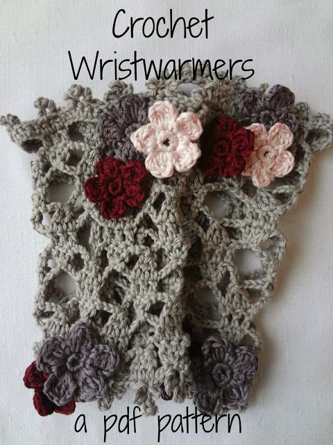 Little Treasures: Crochet Pattern for Lace Wrist Warmers
