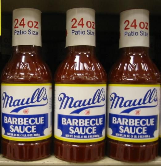 "St. Louis is said to consume more barbecue sauce per capita than any other city in the nation.  St. Louis-style barbecue sauce is described by author Steven Raichlen as a ""very sweet, slightly acidic, sticky, tomato-based barbecue sauce (usually made without liquid smoke which was invented by a Kansas City, Missouri pharmacist). The Louis Maull Company, which is based in St. Louis, manufactures several types of barbecue sauce under the Maull's brand."