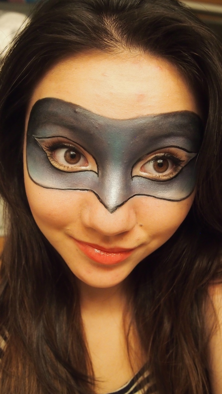 Makeup Mask but in superhero themes...awesome idea.