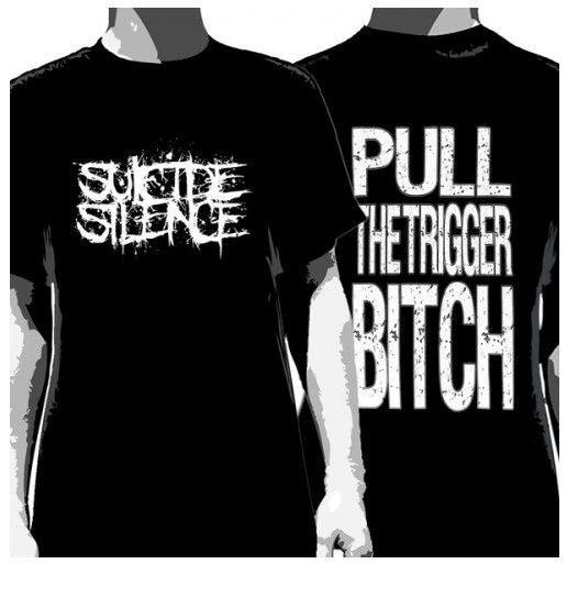 Suicide Silence Pull The Trigger T-Shirt Black Men's – Famous Rock Shop