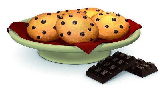 Receta de cookies de chocolate para hacer con niños