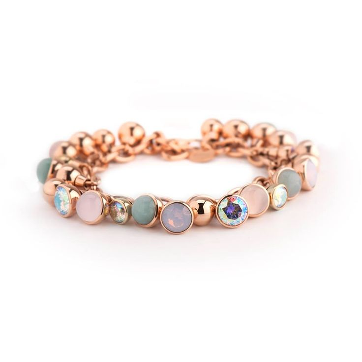#MelanO Twisted armband in rosé (of zilver of goud)