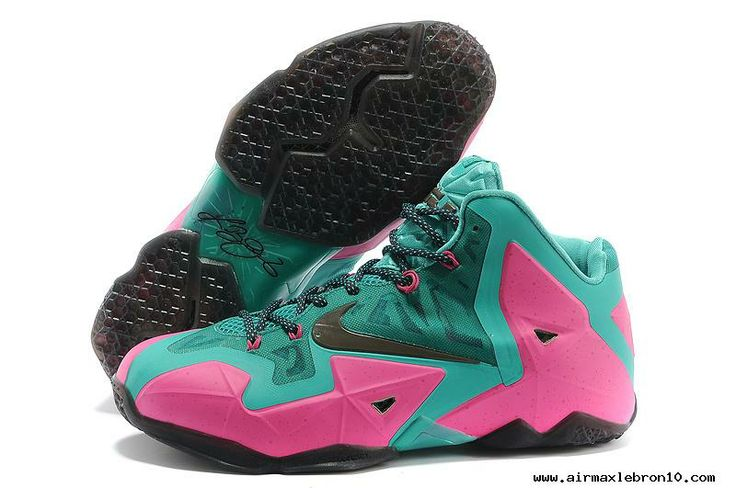 Mint Green Pink Mens Basketball Shoes Nike LeBron 11 Discount