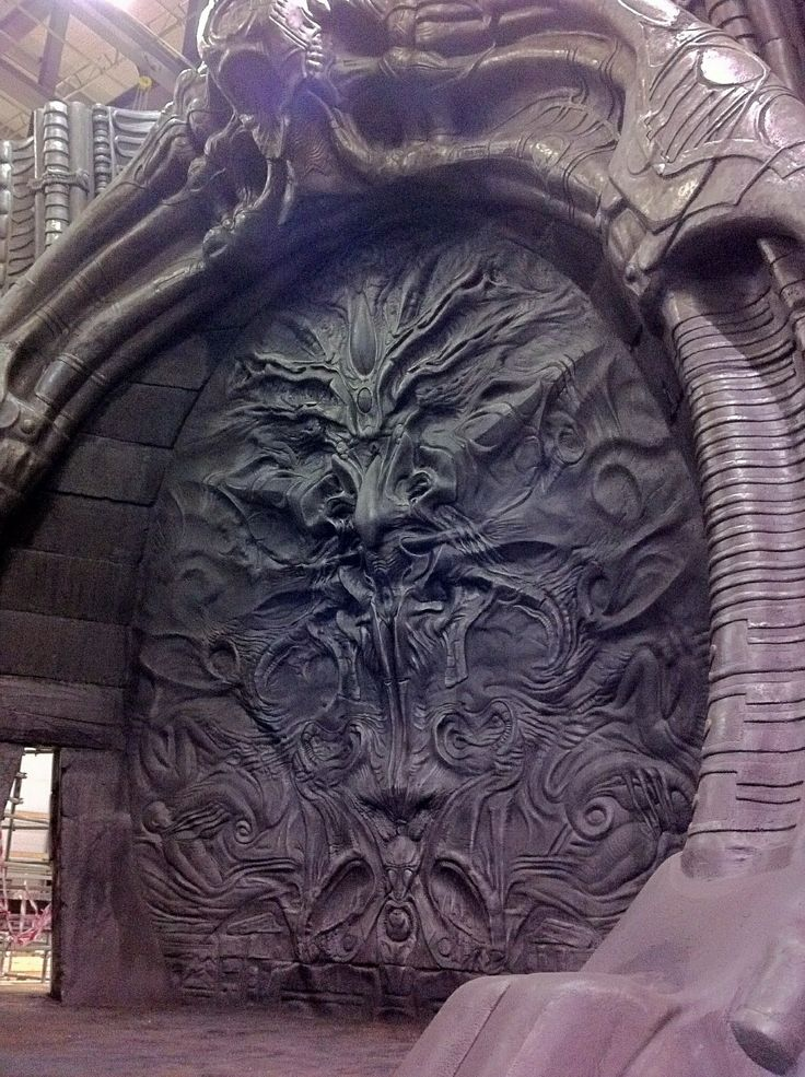 Giger mural hr giger pinterest hr giger aliens and for Prometheus xenomorph mural