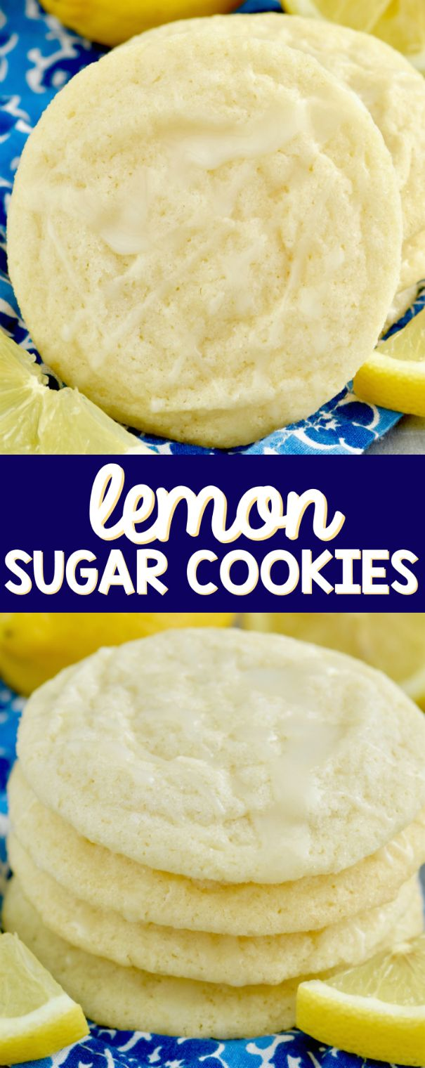 These Lemon Sugar Cookies are melt in your mouth good! Perfection with a delicious lemon icing.