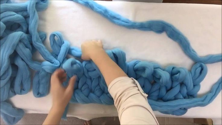 Check out Becozi video showing how to hand knit a Merino Wool blanket