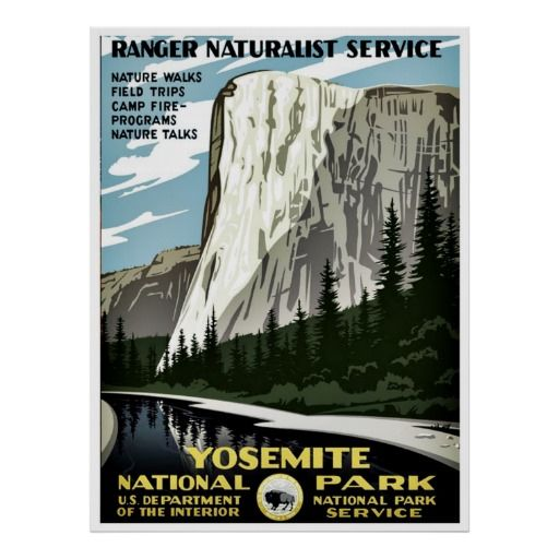 Yosemite National Park Ranger Posters: 17 Best Images About Art + Posters + Design On Pinterest