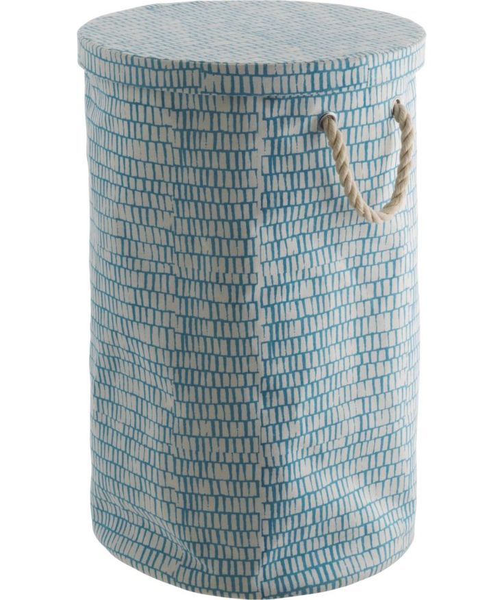 Buy Habitat Firth Printed Canvas Laundry Bag - Blue at Argos.co.uk - Your Online Shop for Linen baskets and laundry bins, Linen baskets and laundry bins.