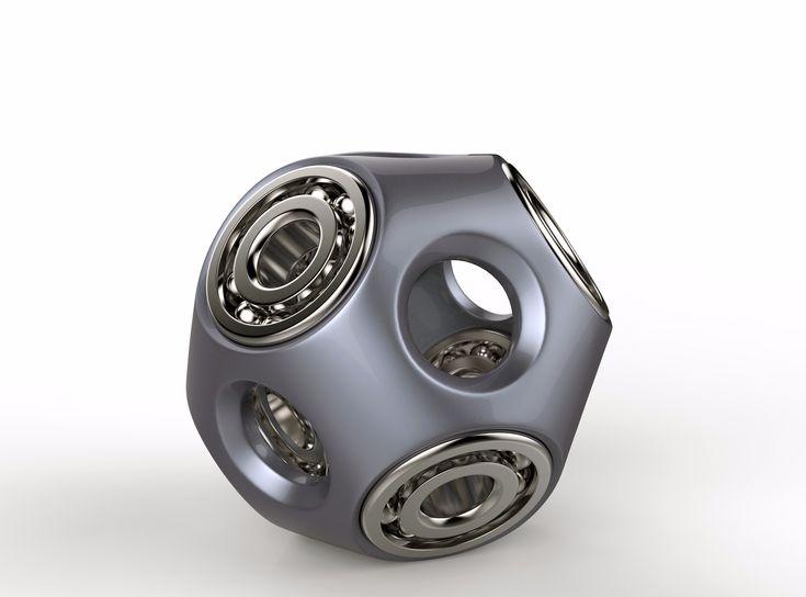 Fidget cube - a 3D model by Adrian Mankovecký | VECTARY    fidget spinner, hand spinner, free 3D model, 3D printing, 3D print, finger spinner, toy, diy