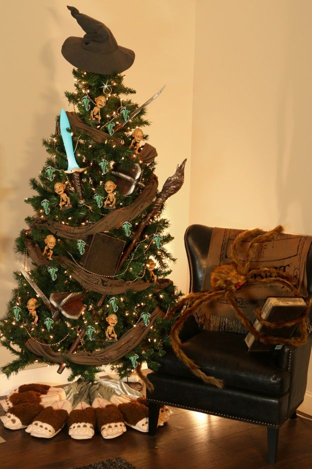 Hobbit Christmas Trees Decorated