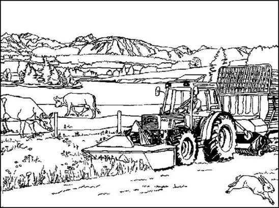 traktoren ausmalbilder malvorlagen bauernhof