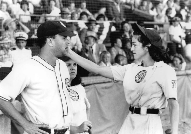 """The 101 Best Sports Movies of All Time: 5. """"A League of Their Own"""" (1992). Penny Marshall's comedy inspired by the real-life exploits of the women ballplayers who kept the sport alive during World War II also happens to be the best movie yet about women in sports -- why they play, and why they sometimes walk away from playing. http://news.moviefone.com/2014/04/20/best-sports-movies/?utm_content=buffer81ce5&utm_medium=social&utm_source=facebook.com&utm_campaign=buffer"""