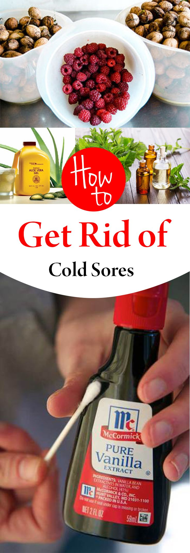 How to Get Rid of Cold Sores - some good ideas in this - I'll have to try them next time