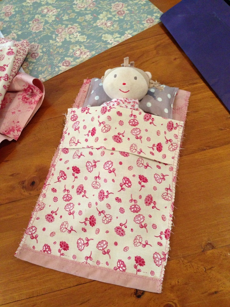 Blanket and Lavender pillow for Dolly with scrap fabric