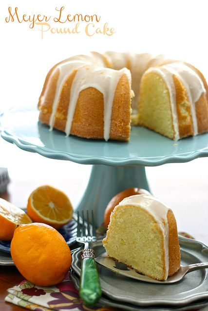 Meyer Lemon Pound Cake #recipe | Cupcakes & Cakes & Donuts | Pinterest