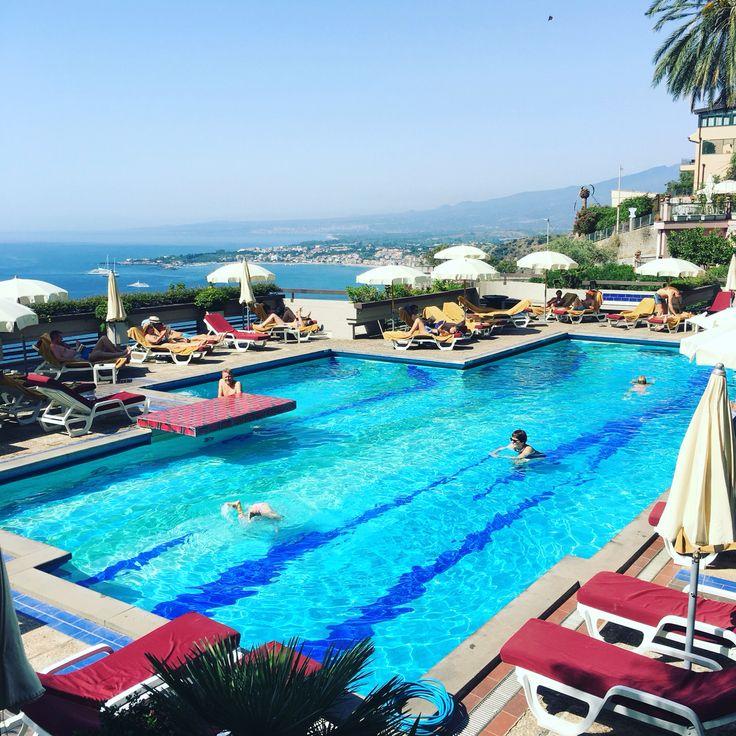 Hotel pool Taormina