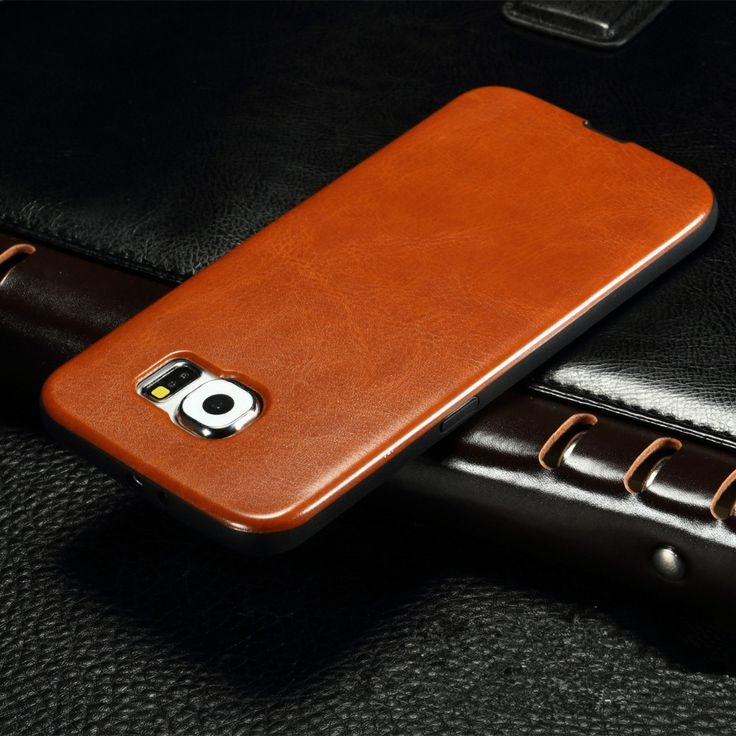New Luxury Vintage Leather Pattern Phone Case For Samsung Galaxy S3 S4 S5 S6 S7 / S6 edge S7 edge Ultra thin Soft TPU Back Cover