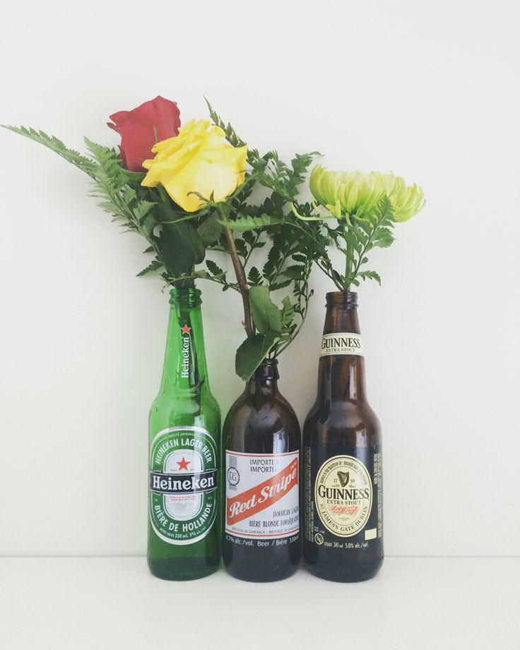 Heineken   Red Stripe   Guinness   Beer Bottles   Water   Fresh Flowers