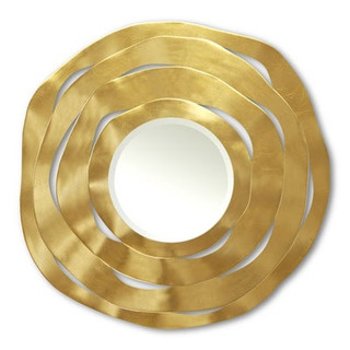 A great mirror that is truly a work of art is an easy way to add a stunning conversation piece to any room.  This CHRISTOPHER GUY Apple Peel Mirror's clever design is carved from concentric wood shaving circles. #wedding #registry #mirrors www.newlywish.com
