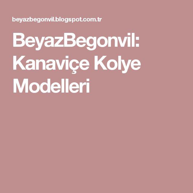 BeyazBegonvil: Kanaviçe Kolye Modelleri