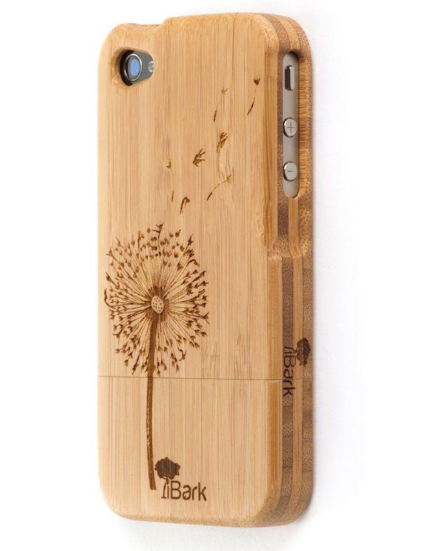 'Dancing Dandelion' Laser Engraved Bamboo iPhone Case   iBark Cases