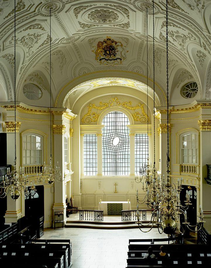 East Window by Iranian artist Shirazeh Houshiary. Church of St. Martin in the Fields (Trafalgar Square, London).