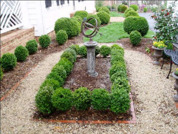 Not all boxwood plants are created equal. I will be hunting for English Dwarf Boxwood. The dwarf variety reach a mature size of 2' x 2'. However, slow growing plants require a lot less pruning.