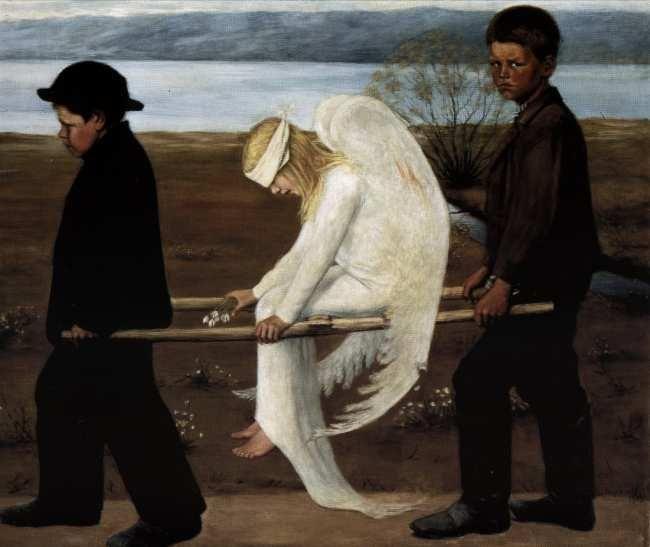 Hugo Simberg  Finnish, 1873 - 1917  The Wounded Angel