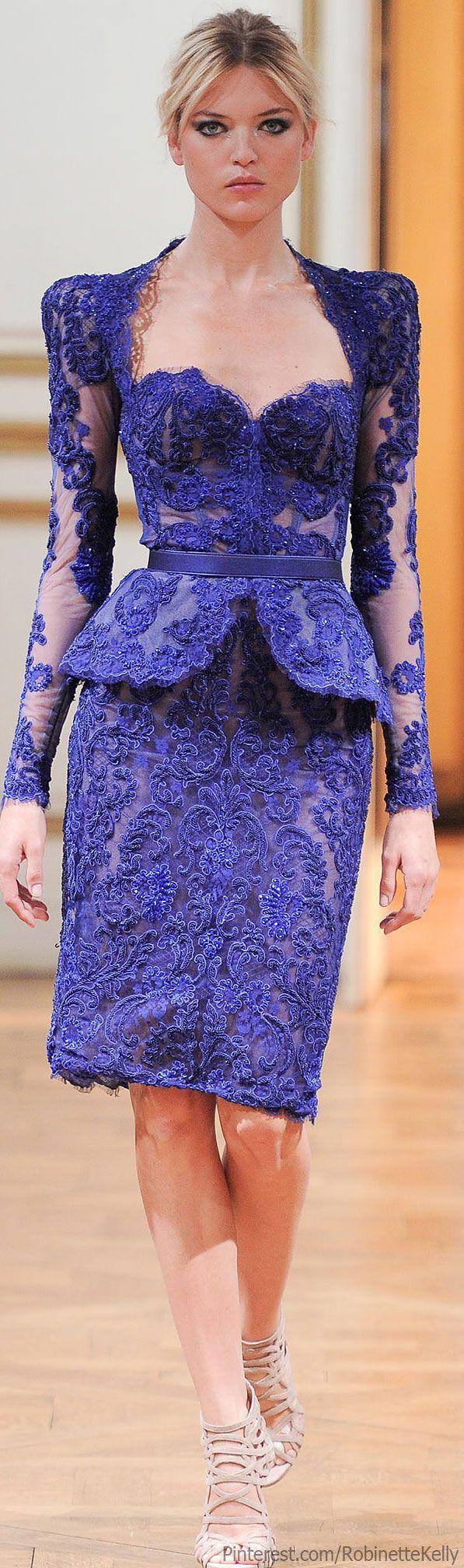 Blue....Zuhair Murad Haute Couture | F/W 2013