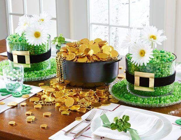 53 best st patrick 39 s day centerpieces ideas images on pinterest centerpieces table centers. Black Bedroom Furniture Sets. Home Design Ideas