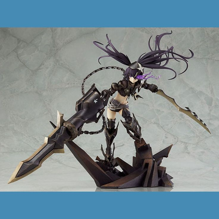 125.67$  Watch now - http://alibly.worldwells.pw/go.php?t=32730827367 - Cosplay 27cm/10.6'' Boxed INSANE Black Rock Shooter Action Figures Garage Kit Model Toys