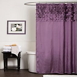 @Overstock - Swap your basic vinyl curtain with this luxurious purple shower curtain for an upscale, elegant look. This stylish polyester curtain bathes your bathroom in rich purple color, and the machine-washable fabric makes it easy to keep it looking nice.http://www.overstock.com/Bedding-Bath/Lush-Decor-Lillian-Purple-Shower-Curtain/6820863/product.html?CID=214117 $34.99