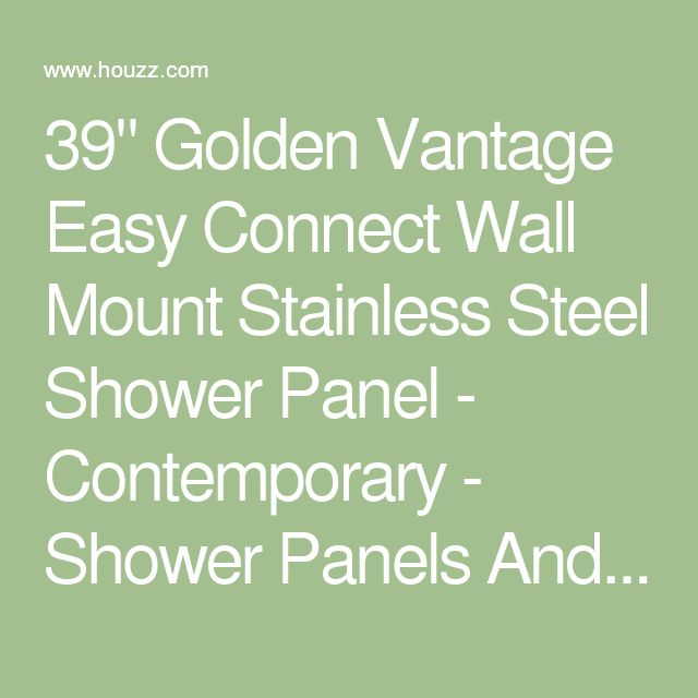 """39"""" Golden Vantage Easy Connect Wall Mount Stainless Steel Shower Panel - Contemporary - Shower Panels And Columns - by Golden Vantage"""