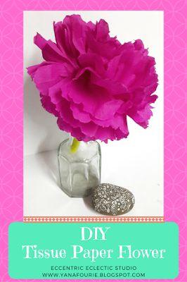 Easy DIY Tissue Paper Flower