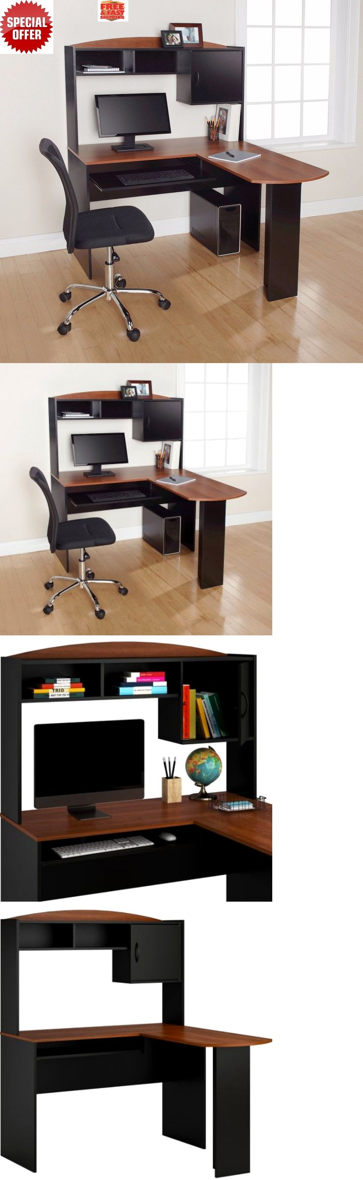 Office Furniture: Corner Computer Desk Workstation Laptop Home Office L-Shaped Student Furniture -> BUY IT NOW ONLY: $119.11 on eBay!